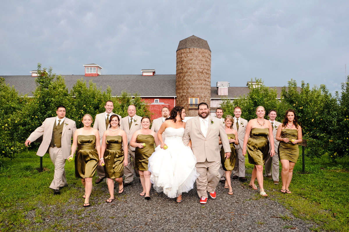 Wedding Party Hobart Indiana County Line Orchard Barn